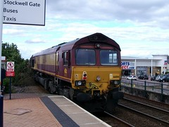 EWS - DB Schenker Class 66 66014 - Mansfield (the mother '66' 66001) Tags: mansfield class66 ews toton dbschenker 66014 shireoakswestjn