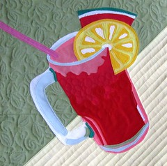 Melon Lemonade - Solids (Lizinnie) Tags: quilt application patchwork watermelonlemonade