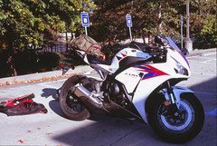 CBR1000RR (LNEB) Tags: nikon october dragon chrome fujifilm p 28 pancake slides fujichrome f5 45mm 2012