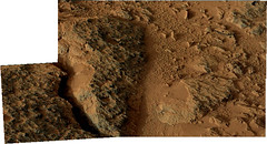 Close-up of Dark Rocks on Mars (sjrankin) Tags: panorama mars closeup sand rocks edited nasa rough dust curiosity msl galecrater 18june2013