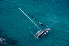 boat crash SBH (muscapix) Tags: boat sailing crash accident bateau stbarth voilier antilles caraibes sbh