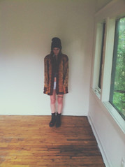 (katea.patchett.) Tags: new house hat wall self cigarette detroit simple blankwall