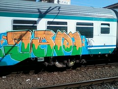 Jam on the run! (NGC Roma) Tags: birthday park street city travel family blue autumn friends light sunset red sea summer portrait sky people urban italy music food dog house holiday snow streetart black rome color macro art me church nature colors car rock night clouds yard train writing canon painting subway fun graffiti photo spring concert europe paint raw day drawing live tag rail railway wallart can spray crew illegal vandalism traingraffiti trackside iphoneography instagramapp