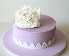Vintage lace and peony cake (Party Cakes By Samantha) Tags: cake vintage giant lace peony lilac simple