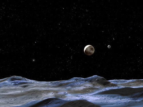 Imagining the Pluto system by NASAblueshift, on Flickr