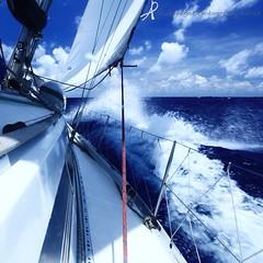 Sailing to Thailand (yachtpagos) Tags: ocean blue sea water boat waves sailing yacht sails cruising tropical sail cruiser chinasea yachtpagos