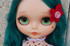 Commission For Lydia (Elisabet Threepwood (so busy)) Tags: pink red cute girl make up photography eva doll dolls factory sweet makeup carving blythe 16 custom elisabet customs threepwood blythes elitdolls elitdoll