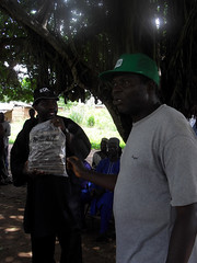 Dr. R. Okechukwu introduces improved cassava varieties to farmers at Oguda in Nigeria (IITA Image Library) Tags: usaid farmers nigeria cassava iita manihotesculenta improvedvarieties