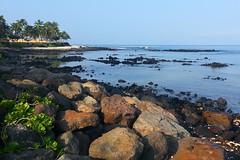 Black Sand Beach (G-daddyArt) Tags: ocean sky black beach landscape hawaii lava sand horizon maui palm palmtree blacksandbeach