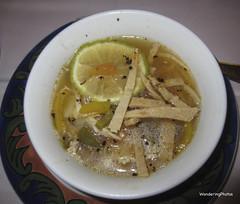Mexican Chicken Lime Soup (WanderingPhotosPJB) Tags: food chicken mexico soup yucatan img limesoup tequilarestaurant grandbahiaprinciperesort