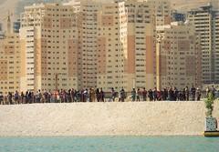 Queue under Tehran skyline (Germán Vogel) Tags: urban lake skyline asia iran capital middleeast queue tehran alborz artificiallake chitgar islamicrepublic westasia
