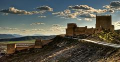 Castillo de Jumilla (Francisco Esteve Herrero) Tags: murcia nubes hdr jumilla 2013 slicesoftime franciscoesteveherrero