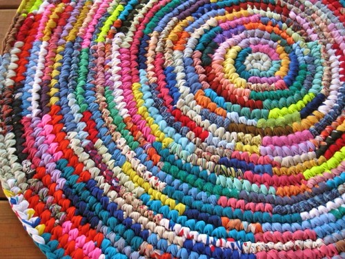 Superb Burst Of Color Crochet Area Rag Rug