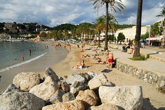 Port of Soller beach on the north coast of Majorca (Puckpics) Tags: summer vacation sun holiday beach spain sand puckle leisure allrightsreserved daysout majorca summerholiday balearic placestogo mallora sollier charlespuckle charlespucklehotmailcom charlesrtpuckle