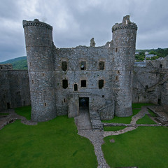 Harlech Castle (bvi4092) Tags: uk travel building castle abandoned wales architecture photoshop nikon unitedkingdom ruin historic elements harlech harlechcastle sigma1020 d300s