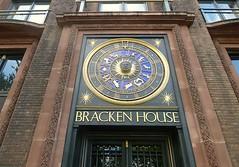 The astronomical clock at Bracken House (helenoftheways) Tags: uk london gold wroughtiron timepiece clocks astronomicalclock brackenhouse cannonstreetec4