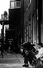 And the song of life keeps playing on. (moony: stupidly dreamy) Tags: street wedding people monochrome happy couple married neworleans joy relaxing marriage happiness nola busker blacknwhite royalstreet luisiana melancholi nowleans