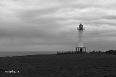 Faro de Luces III (angelbg) Tags: costa blancoynegro faro luces mar asturias colunga cantbrico farodeluces costa asturianamar
