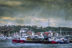 Whitby Marina (pollylew) Tags: houses sky marina boats textures whitby riveresk whitbymarina