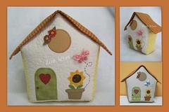 Casinha peso de porta (Zion Artes por Silvana Dias) Tags: patchwork casinha pesodeporta pesodeportacasinha zionartes