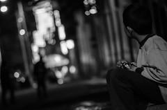 Black and white, at night (Andrés Bernal06) Tags: boy bw white black nikon little bokeh boyacá 55200mm nikond5100