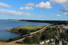 Summer Sunday Specials - The Torbay Express with Braunton (SamTugwell1) Tags: travel summer train bay view hill sunday great railway trains steam southern western express sugarloaf railways dartmouth waterside campsite paignton torbay braunton 34046