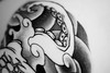 (my camera is a jar) Tags: blackandwhite japan tattoo octopus outline octopustattoo {vision}:{outdoor}=0667