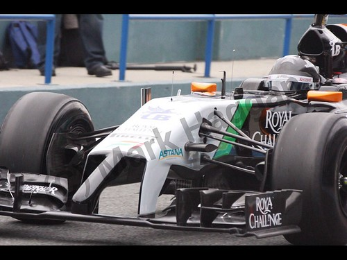 Sergio Perez in Formula One Winter Testing 2014