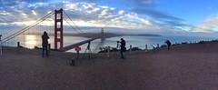Paparazzi (Lisa Ouellette) Tags: sanfrancisco morning bridge sunrise golden photographers goldengatebridge marinheadlands iphone