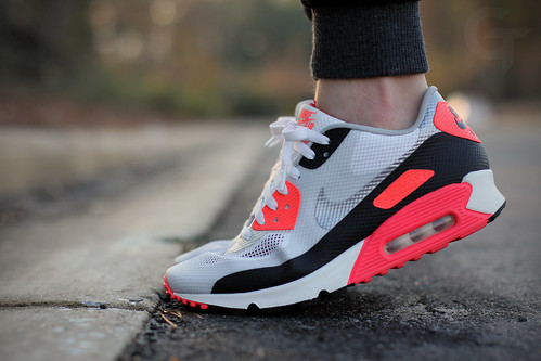 Air Max 90 Infrared On Feet