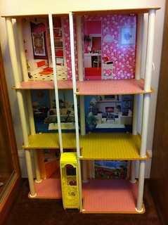 My newly cleaned Vintage Barbie Townhouse