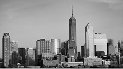 The City,  February 2014 (Jay Fine) Tags: nyc blackandwhite skyline jerseycity manhattan goldmansachs sep2 1worldtradecenter 200weststreet