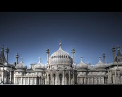 Brighton Pavilion. (Alex takes photos.) Tags: blue white color colour detail colors contrast sussex high nikon brighton exposure colours dynamic 28mm east level dome domes range hdr realistic cs3 d610 domed photmatix