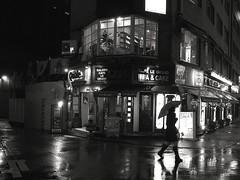 GINZA in the rain (angler_ishikoro) Tags: street bw rain japan tokyo ginza omdem5