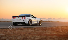 Chevy Corvette | 1004 rwhp (Ghost) (Tareq Abuhajjaj | Photography & Design) Tags: auto sunset white hot cars chevrolet love car speed drag cool nice dubai awesome ghost uae dream fast chevy saudi arabia corvette riyadh qatar whiteshark dirab 1004rwhp