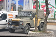1986 Land Rover Defender 90 (SergiuSV) Tags: auto uk car army automobile soft offroad 4x4 diesel top 4wd rover romania land vehicle suv landrover 90 brasov defender 44 worldcars