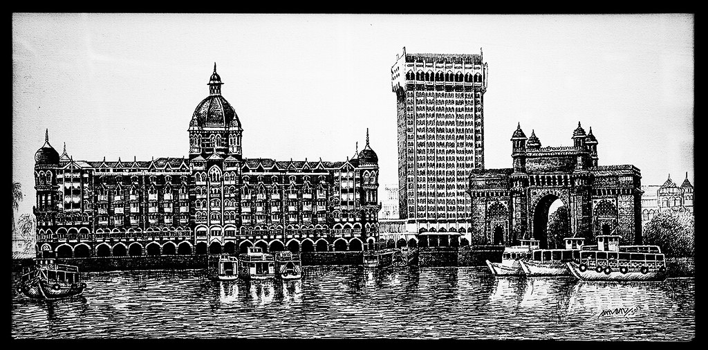 Sketch at jahangir art gallery mumbai sketch taj gateway im