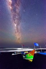 Milky Way & Boat (SadAgus) Tags: beach night indonesia nikon nationalgeographic d800 milkyway cloudsstormssunsetssunrises