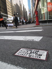 Toynbee Classic Message Tile on Broadway 35th St and 6th Ave 2014 NYC 9103 (Brechtbug) Tags: street new york 2001 city nyc classic by tile square dead idea message near manhattan broadway may severino midtown made tiles planet macys jupiter kubricks avenue herald toynbee named verna 6th crumbling 35th sevy possibly 2014 reclusive resurrect philadelphian 05072014