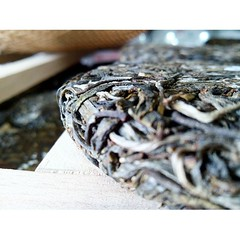 puerh raw bing cha (Tetere Barcelona) Tags: tea te cha sheng  puerh puerhtea  chaye  bingcha teaart puerhcha uploaded:by=instagram