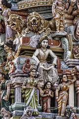 GOPURAMS COUVERTS DE SCULPTURES  PONDICHERY (pierre.arnoldi) Tags: inde pondichery gopurams