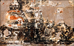 Dementia (Junkstock) Tags: abstract abstraction aged arizona artifact chaos chaotic closeup decay decayed distressed graphic graphics old oldandbeautiful paint patina relic texture textures type typography wall weathered