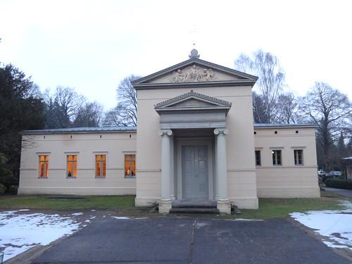 1851 Potsdam spätklassizistische Leichenhalle und Kapelle von Ferdinand von Arnim Alter Friedhof Heinrich-Mann-Allee 106 in 14473 Teltower Vorstadt