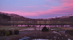 """Sunset (nz_willowherb) Tags: pink sunset clouds see evening scotland colours tour perthshire visit tourist east reflected visitor killin dochart to"""" """"go visitkillin seekillin gotokillin"""