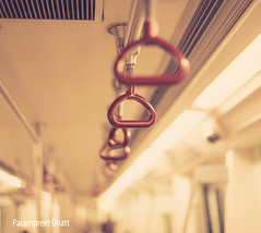 Random handles on a Delhi Metro (Parampreet Dhatt) Tags: travel station train underground subway 50mm nikon dof metro random bokeh delhi railway wanderlust shallow railways handles d600 delhimetro niftyfifty 50mmf14g nikond600
