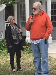 Mayor Nancy Shaver and City Archaeologist Carl Halbirt
