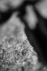 Crumble (belleshaw) Tags: blackandwhite nature rock boulder edge rough split santarosaplateau murrietaca