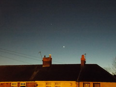 Mars and Venus 9th February 2015 (David Blanchflower) Tags: sky mars evening nikon venus space astrophotography planet astronomy