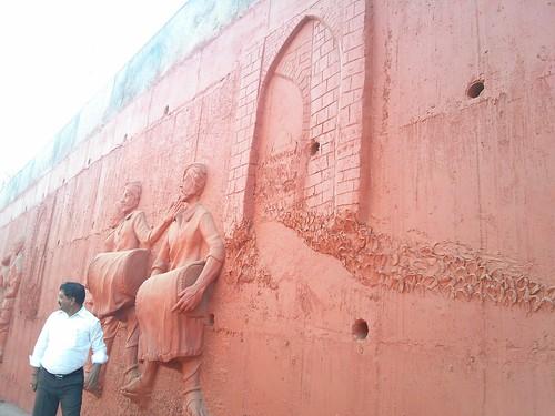 Bidar - Cement murals on main roads