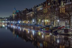 22:22 (karinavera) Tags: street longexposure travel holland reflection netherlands amsterdam night straat nikond5300